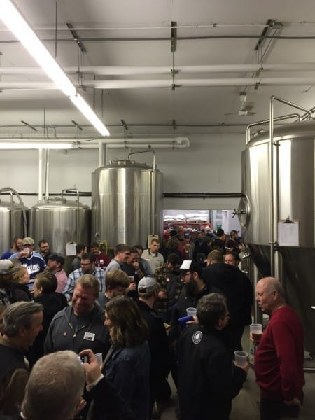 Brewing professionals kick off the weekend at Mad Anthony Brewing Company.