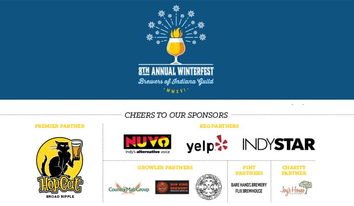 8th Annual Brewers of Indiana Guild Winterfest Sponsors