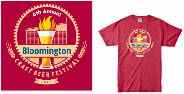 Bloomington Craft Beer Festival tee shirt