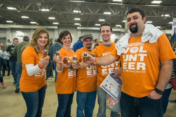 Joy's House volunteers at Winterfest in Indianapolis