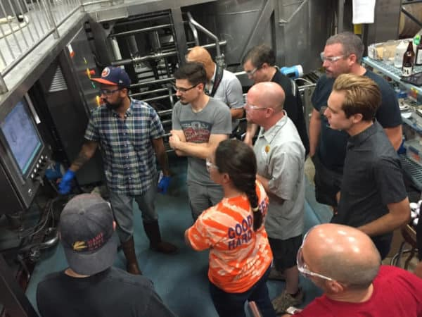 Brewers from across Northwestern Indiana convened to for the inaugural IN Beer Brigade brew day of Corn King IPA.