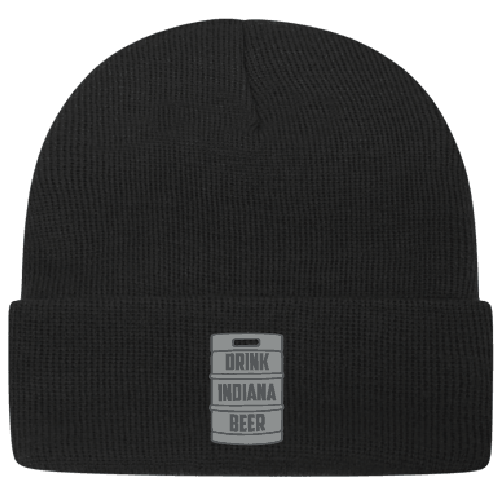 Drink Indiana Beer keg beanie