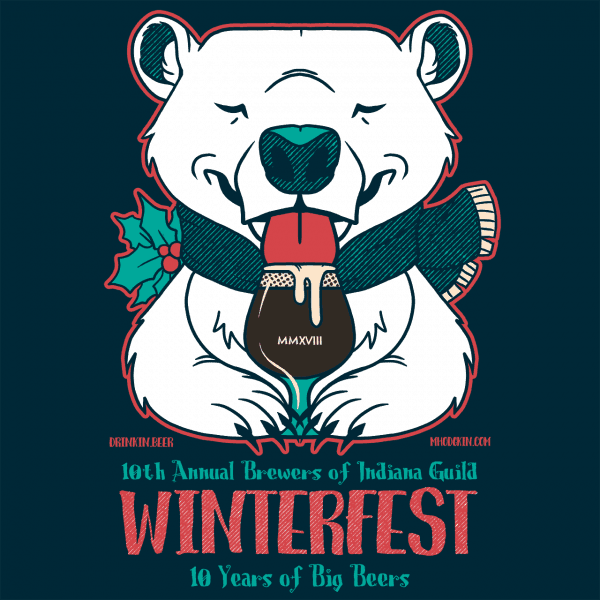 10th Annual Brewers of Indiana Guild Winterfest logo
