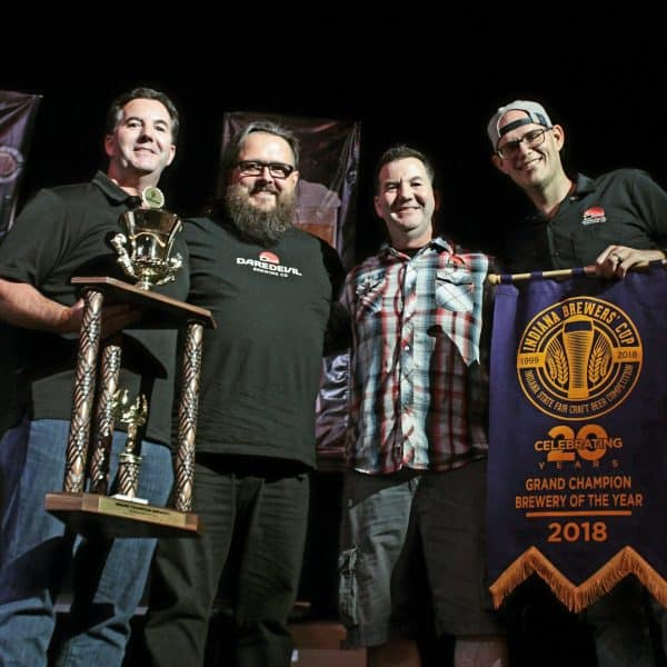 Daredevil Brewing Co winning Grand Champion Brewery at Indiana Brewers Cup