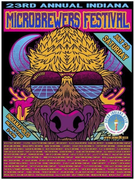 Indiana Microbrewers Festival 2018 poster
