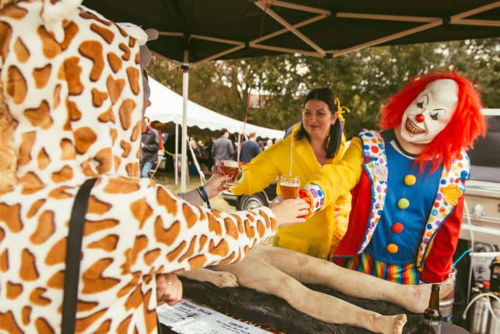 Scarlet Lane clown at Broad Ripple Beer Fest 2018